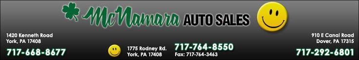 #McNamara #Auto #Sales #McNamaraAutoSales #York #PA #Cars #Trucks #Suvs #CarDealerships #Professionals #Customers #CustomerService #Service #AutoSales #Financing #Specials #Deals
