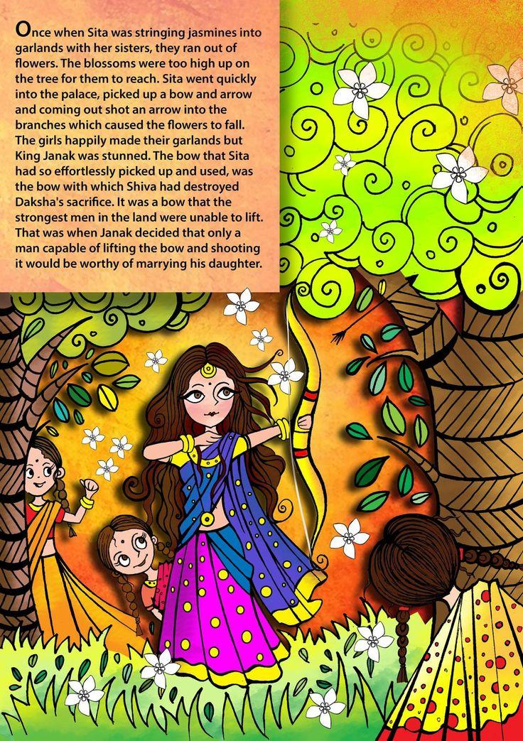 The day Sita was born is celebrated as Sita Navami. Here is an interesting story, about her younger days, taken from Kamban's Ramayanam, Bala Kandam. #Sita #Ramayana #SitaNavami #Shiva