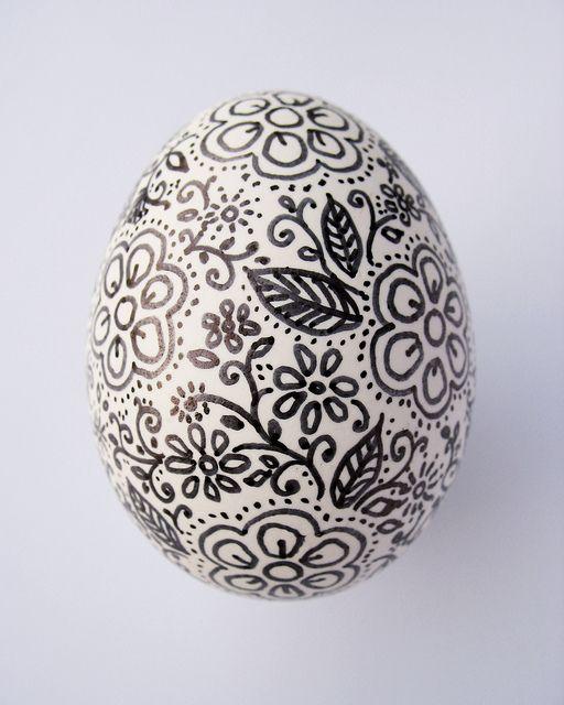 Sharpie doodle egg. Easter egg.