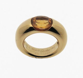 Anillo de Cartier de oro y topacio - Cartier ring with gold and a topaz
