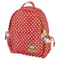 COPPENRATH Kinder-Rucksack - Fröhliche Tupfen #coppenrath #rucksack #kinder #kinderrucksack #rot #schule #kindergarten