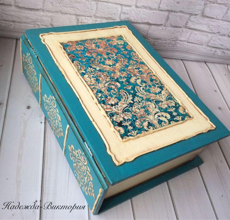 """Купить Шкатулка-книга """"Вензеля"""" - шкатулка, шкатулка для украшений, шкатулка книга, книга шкатулка"""