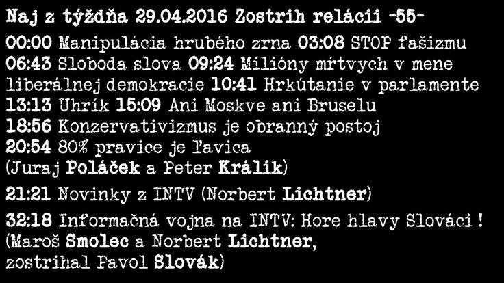 Naj z týždňa 29.04.2016 Zostrih relácii -55- [Medzi]priestor, INTV
