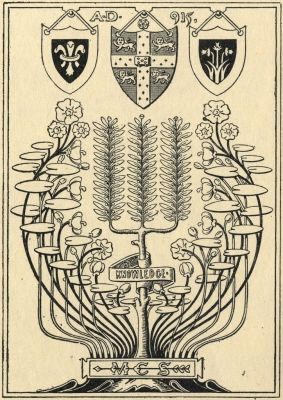 Bookplates by  E. Bengough Ricketts for M. C. S., 1895