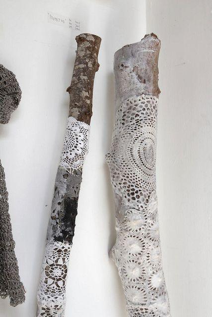 lace. wood.