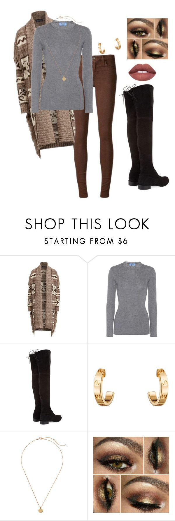 """""""OOTD Tomorrow"""" by vireheart ❤ liked on Polyvore featuring Polo Ralph Lauren, Joe's Jeans, Prada, Stuart Weitzman and Cartier"""