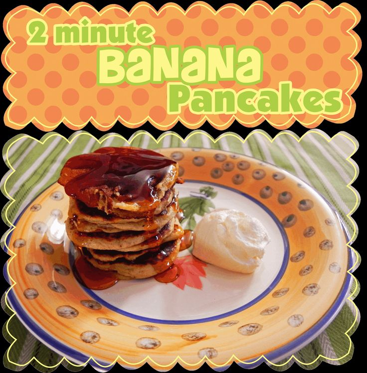 Easy Peasy Pudding and Pie!: 2 minute banana pancakes