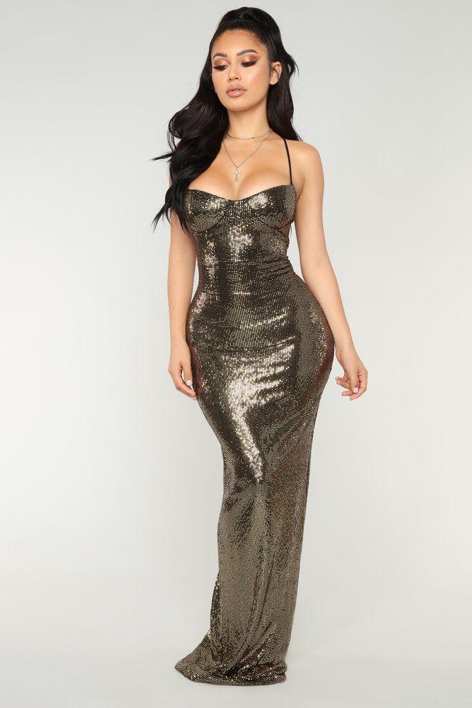 3e4ac196f30 Ultra Radiant Sequin Dress - Gold