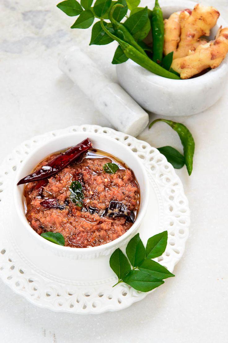 Puli Inji. Kerala ginger pickle / chutney. South Indian recipe, vegetarian.