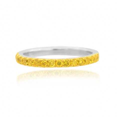 Canary Fancy Vivid Yellow Diamond Half Eternity Wedding Band, SKU 1986R (0.35Ct TW)