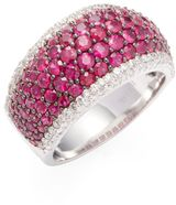 I says ruby but it looks pink to me!! 14K White Gold Diamond & Natural Ruby Ring #ad