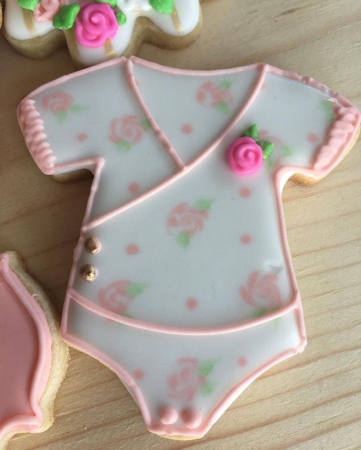 Pretty baby girl onesie cookies