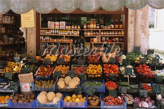 Food market in Naples, Italy