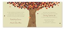 Fall invitation idea - could make an interesting link between leaves and friendship.  Perhaps for the farewell?