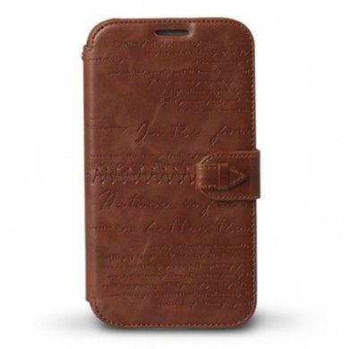 Forro Samsung Galaxy Note 2 Zenus Masstige Lettering Diary - Marron