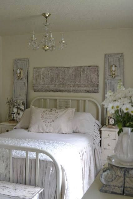 white shabby bedroom beautiful bedrooms pinterest. Black Bedroom Furniture Sets. Home Design Ideas