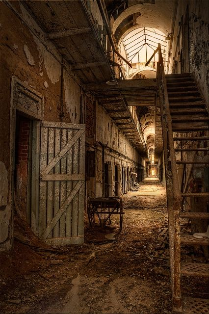 Abandoned space from another century. Eastern State Penitentiary, PA