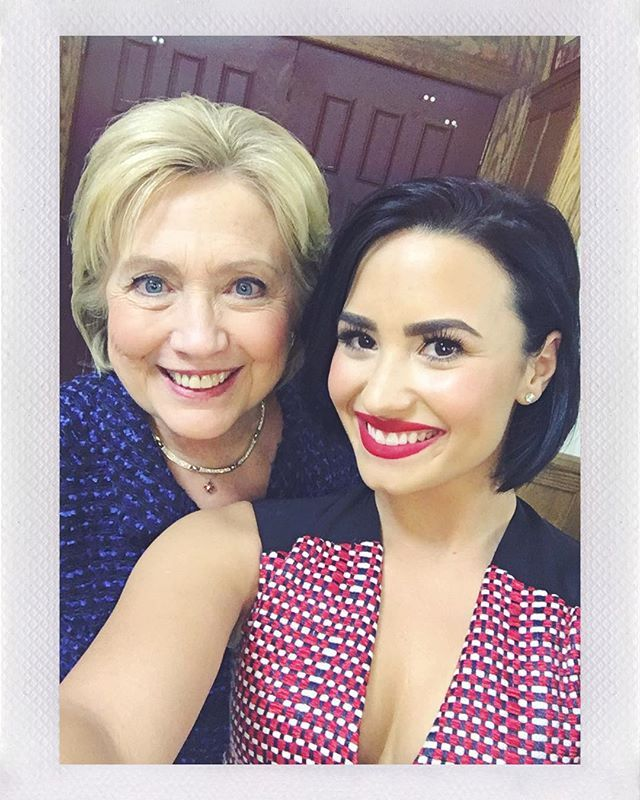 Pin for Later: Demi Lovato's Squad Is Who We Want to Hang Out With  Hillary Clinton and Demi Lovato.