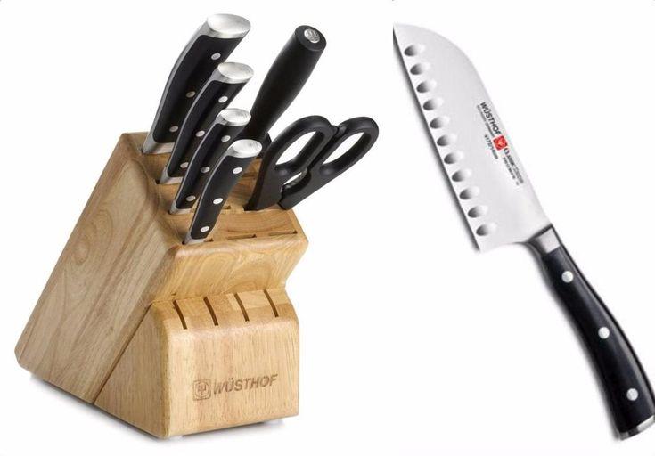 Wusthof Classic Ikon 7 Pc Block + BONUS Santoku Knife 8347 4172 VIDEO Knives…