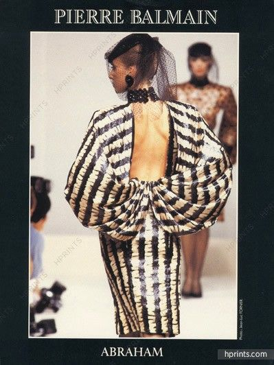 Pierre Balmain 1986 Robe drapée, dos nu, Evening Dress, Photo Jean-Luc Fornier
