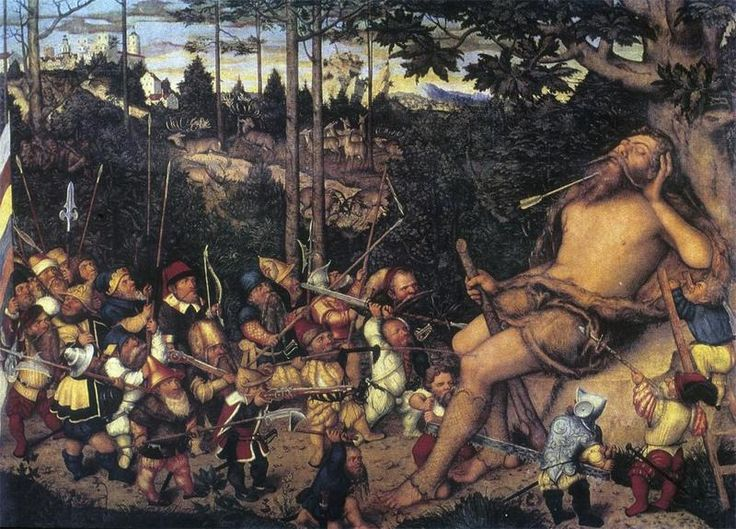 Sleeping Hercules and the Pygmies
