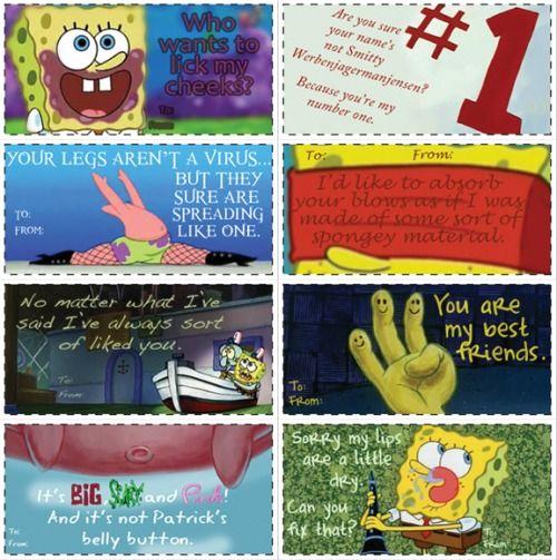 17 best images about spongebob – Spongebob Valentines Day Card