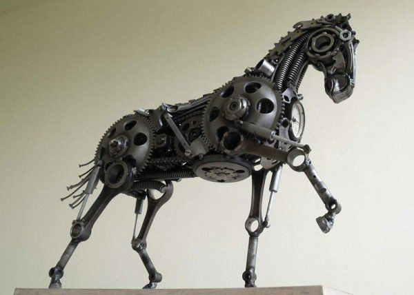 Best Hasan Novrozi Images On Pinterest Steampunk Animal - Salvaged scrap metal transformed to create graceful kinetic steampunk sculptures