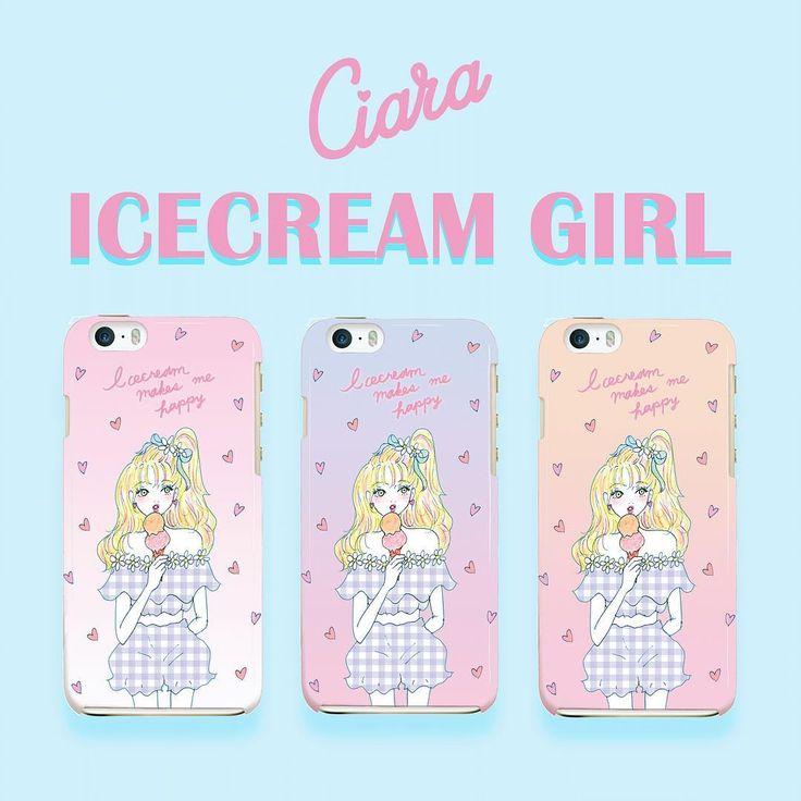 オンラインストアで新デザイン発売しました💕    アイスクリームを食べてる女の子のがずっと作りたくて☺️✨✨  背景のグラデーションとハートもポイント💓    ハードケース、クリアケース、手帳型ケース、モバイルバッテリーあります🎈💋💖  トップのURLよりチェックしてみてください🎀    ゴールデンウィーク期間中は送料無料でお得です💕💕💕 #ciara #シアラ#iphoneケース #アイスクリーム#ギンガムチェック#ハート#グラデーション