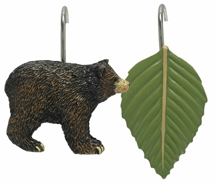 Black Bear Shower Curtain Hooks By Park Designs Bear
