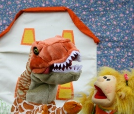 "Little Gem Puppets Maggie and Rexy from ""Maggie"""