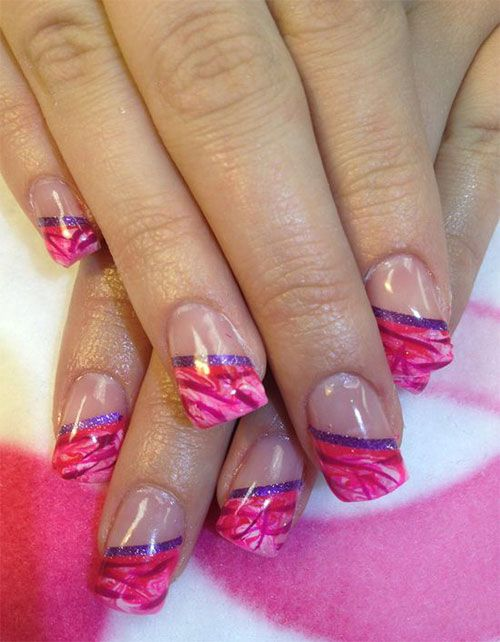 71 Best Nail Art Images On Pinterest Make Up French Tip