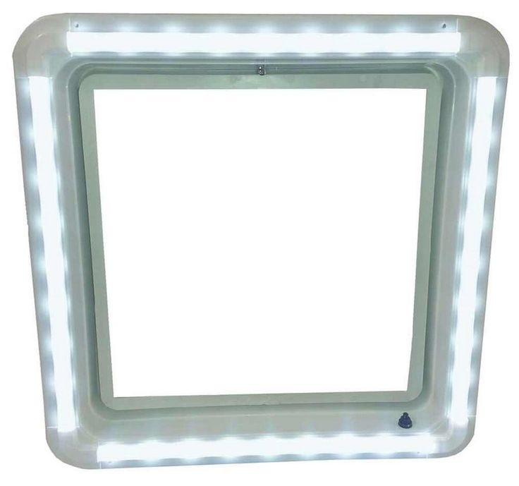 Easily add more lighting to your RV living/dining area, bedroom or bathroom. Replaces existing power ceiling vent garnish. Has 36 dimmable LEDs for super bright light rated at 720 lumens. Produces a 1