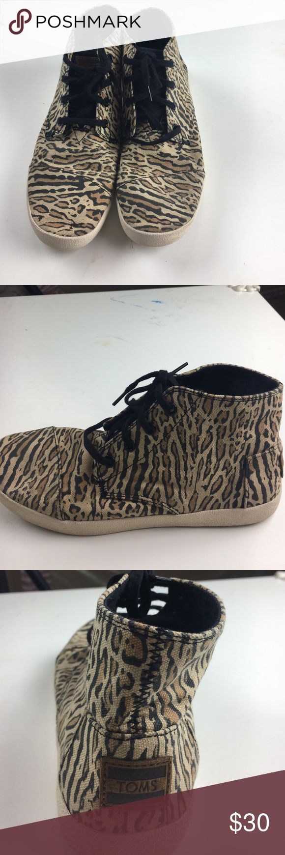 Cheetah print high tops Cheetah print high tops worn twice in great condition TOMS Shoes Sneakers