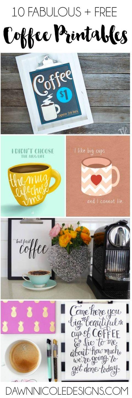 10 Free Coffee Printables   dawnnicoledesigns.com