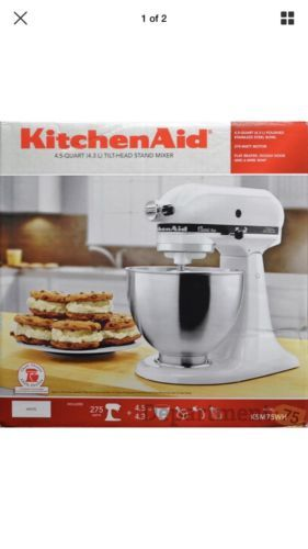 04d345322ea Countertop Mixers 133701  Kitchenaid Ksm75wh Classic Plus 4.5Qt Tilt Head  Stand Mixer (17604-1Fj) -  BUY IT NOW ONLY   172 on  eBay  countertop   mixers ...