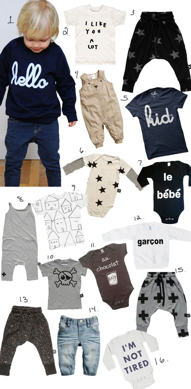 It's been a little over a month since we've had our son. I have to admit, little girls seem to have a lot more FASHIONABLE options than little boys. So, I've been doing research on some cool baby clo