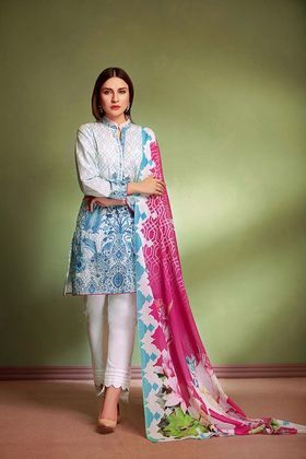 a38e297b74 Gul Ahmad 2 Piece Custom Stitched Suit - Blue - TCN-18 A | Gul Ahmed ...