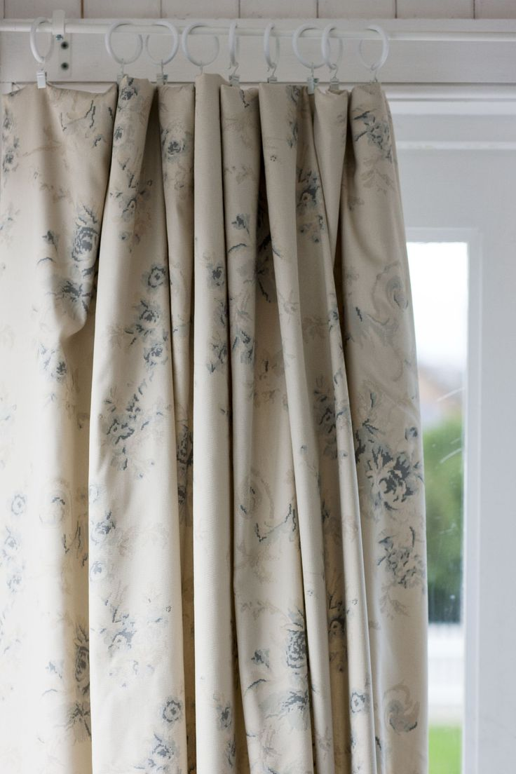 Birch tree fabric window panels - Curtains Made In Cabbages Roses Fabric