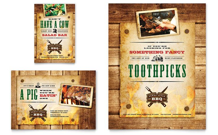 Flyer layout | Steakhouse BBQ Restaurant Flyer  Ad Template Design | StockLayouts