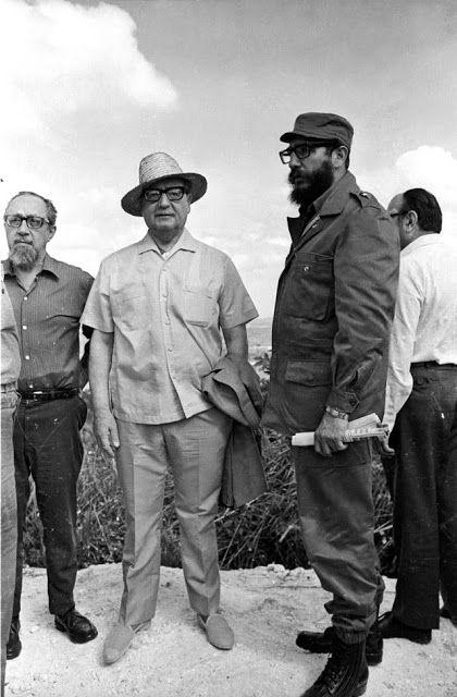 El presidente chileno Salvador Allende y Fidel Castro, en el Valle de Cuba, en diciembre de 1972