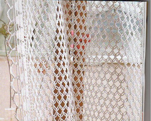 CROCHETBUTTERFLY: Crochet Curtain Pattern (NOTE: Handmade Crochet Curtains…