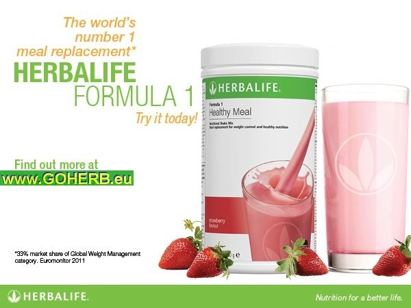 Herbalife Formula 1 Protein Shake is the world's No. 1 meal replacement!  BE SMART and FUEL GREAT!  SASA INDEPENDENT HERBALIFE DISTRIBUTOR   since 1994   XeeMe: xeeme.com/SasaSieht Infos and Orders at: www.goherbalife.com/goherb