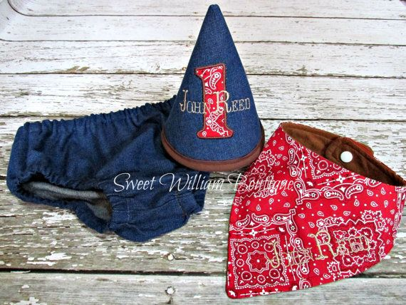 $40 Western Cake smash outfit by Sweet William Boutique