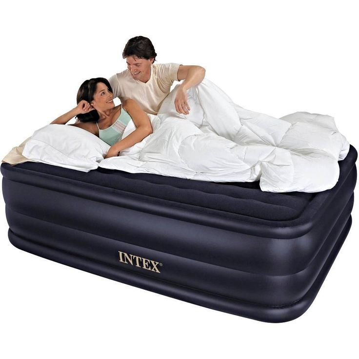 "QUEEN AIR MATTRESS Electric Built-in Pump Raised Aero Bed Inflatable 22"" Airbed"