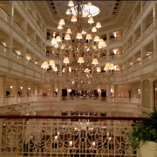 Inside the Grand Floridian, at Disney World.  I think this is what heaven will look like, (only there will also be lots of cats).