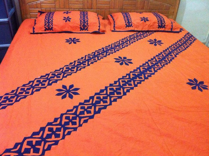 handmade bed sheets design 2