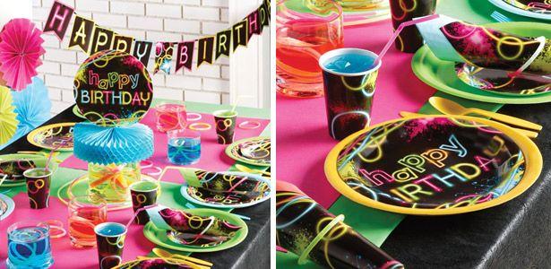 Addobbi festa compleanno Fluo Party per bambini