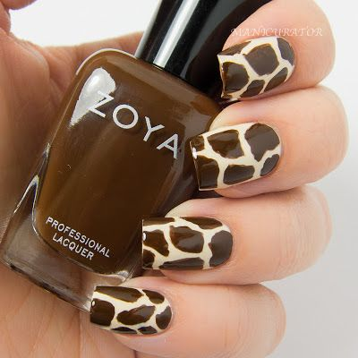 manicurator: Digit-al Dozen September Spectacular Animal (Giraffe) Nail Art with Zoya