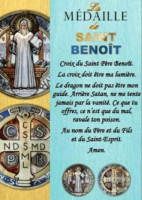 Prière de Saint Benoit