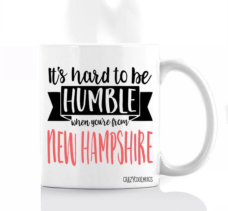 It's Hard to Be Humble New Hampshire Coffee Mug